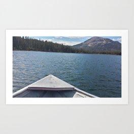 Fishing on Lake Mary Art Print