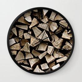 firewood pattern Wall Clock