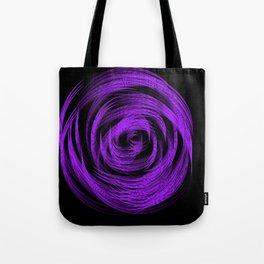 Purple Loop Illusion Tote Bag