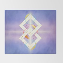 Linked Lilac Diamonds :: Floating Geometry Throw Blanket