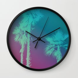 Negative Palms Wall Clock