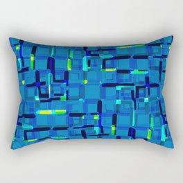 Urban blue Rectangular Pillow
