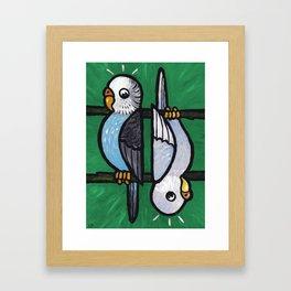 Parakeet Up, Parakeet Down Framed Art Print