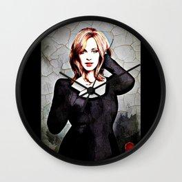 christina hendricks Wall Clock