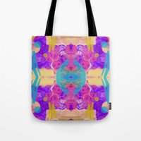 glitch Tote Bags featuring GLITCH  by Vasare Nar