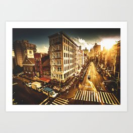 chinatown in nyc at dusk Art Print
