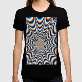 acid funky funny drippy design T-shirt