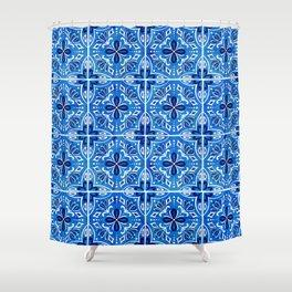 Sevilla - Spanish Tile Shower Curtain