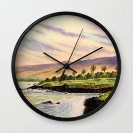 Mauna Kea Golf Course Hawaii Hole 3 Wall Clock