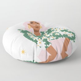 Strike a Pose Pink and Green Palette Floor Pillow