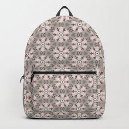 Red White Brown Geometric - Peppermint Wheels Backpack