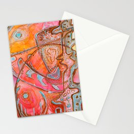 Something Jurassic In Pink Stationery Cards