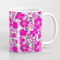flower pattern Mugs featuring Flower Pattern  by Sammycrafts
