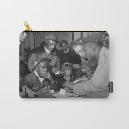 Tuskegee Airmen Planning Session - Italy - 1945 Carry-All Pouch