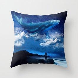 Night Whale Throw Pillow