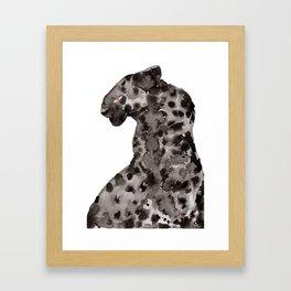 Jaguar - Onça do Pantanal em Chamas Framed Art Print