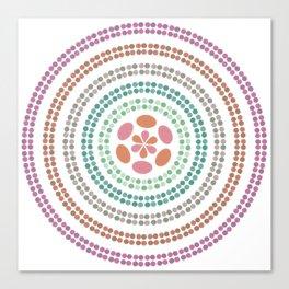 Retro floral circle 2 Canvas Print
