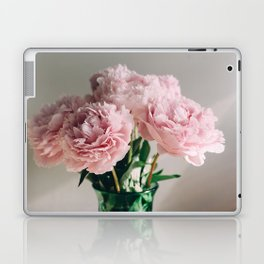 Pink Peonies on White Laptop & iPad Skin