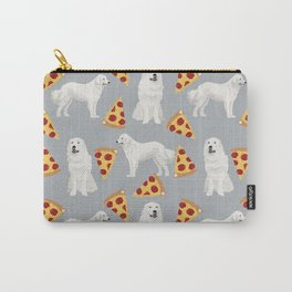Great Pyrenees pizza dog portrait custom dog breed art print dog person gifts for christmas Carry-All Pouch