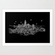 Indianapolis, Indiana City Skyline Art Print