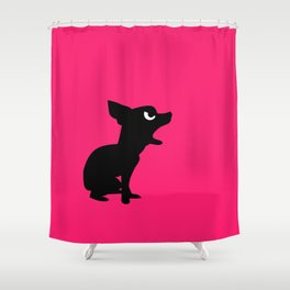 Angry Animals: Chihuahua Shower Curtain