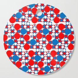 Red White & Blue Patriotic Modern Print Cutting Board