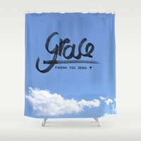 grace Shower Curtains featuring Grace by Pedro A Ribeiro
