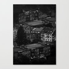tiny boy (Series: 'empty city full of lonely people') Canvas Print
