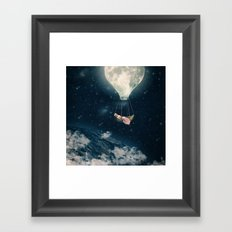 The Moon Carries Me Away Framed Art Print