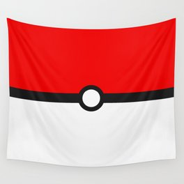 Red and White Minimalism Wall Tapestry