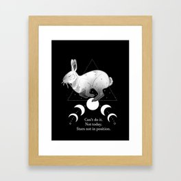 Not Today. Framed Art Print