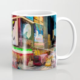 Times Square II (pastel paint style) Coffee Mug