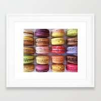 macarons Framed Art Prints featuring Macarons  by Laura Ruth