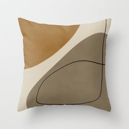 Organic Abstract Shapes #3 Throw Pillow