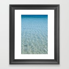 Blue Sea Framed Art Print