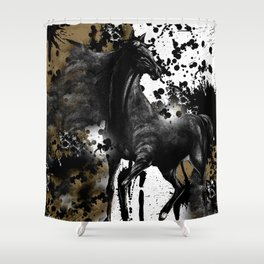 HORSE AND THUNDER Shower Curtain
