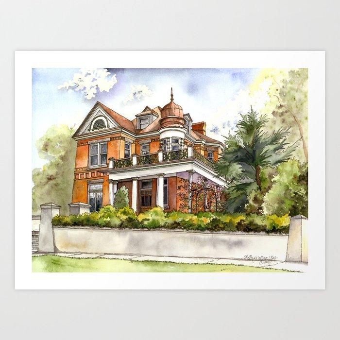 Stately Manor House Art Print