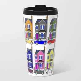 My own Notting Hill / A Victorian House & Retro car Travel Mug