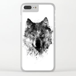 Wolf Like Me V2 Clear iPhone Case