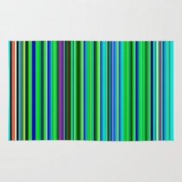 Colorful Barcode Rug