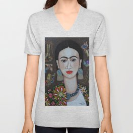 Frida thoughts Unisex V-Neck