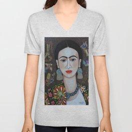 Frida thoughts Unisex V-Neck