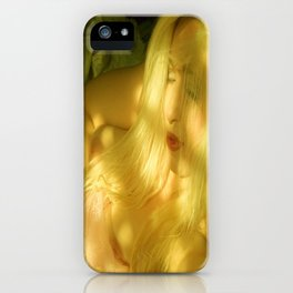 nude goddess ladykashmir pink veil collection iPhone Case