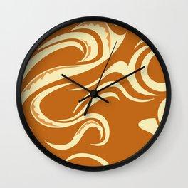 Paikea Orange Wall Clock