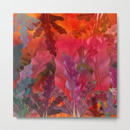"""Pink Scifi Tropical Jungle"" Metal Print"