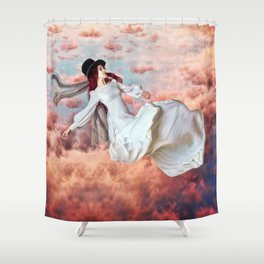 The Free Fall of Hypnagogia Shower Curtain