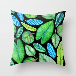Tropical Pattern Throw Pillow