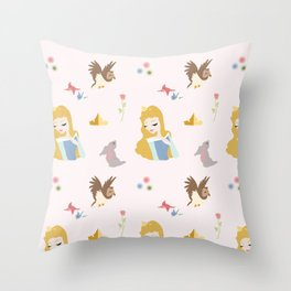 Sleeping Pattern Throw Pillow