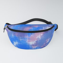 painting texture abstract background in blue pink Fanny Pack