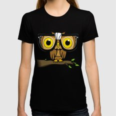 The Little Wise One Black X-LARGE Womens Fitted Tee